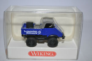 """Wiking 870 40 Unimog 411 (""""THW"""") Vehicle w/Roof (Blue) for Marklin -NEW w/BOX"""