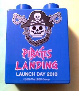 RARE Legoland Duplo Pirates Landing Visitor Collector Lego Brick Merlin 2010