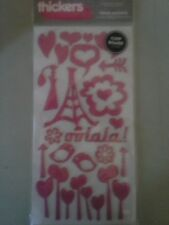 Venus pink Thickers Accents  stickers chipboard - AC American Crafts