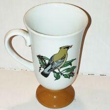New listing Vintage Irish Coffee Mug Cedar Waxwing Bird Fred Roberts