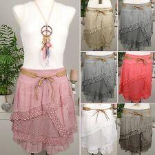 Unifarbene Damenröcke aus Baumwolle