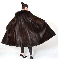 A9 Nerzmantel Nerz Pelz Mantel Fur Mink Coat pelliccia di visone Piel ca. XL