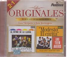 CD - Los Originales Peerless 2 En 1 Los Sleepers Y Los Teenagers - BRAND NEW !