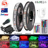 15m 10m 5m 5050 SMD LED Strip Light 12V * Power Adapter *24/44 KEY IR Controller
