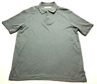 Tommy Bahama Mens Gray Short Sleeve Polo Shirt Size Large