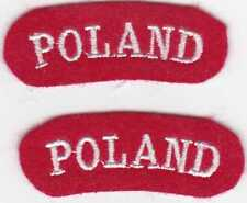 WW2 Polish Army POLAND shoulder titles, replicas