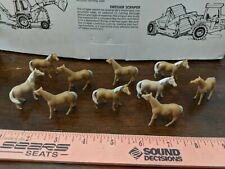 1/64 ERTL FARM TOY QTY OF 10 ASSORTED light brown HORSES DISPLAY S SCALE