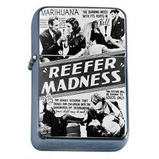 Reefer Madness Vintage Poster D1 Flip Top Oil Lighter Wind Resistant Flame