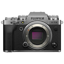 Fujifilm X-T4 Mirrorless 26.1MP 4K Fuji X T4 Digital Camera Body Silver