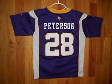 NFL Nike MN Vikings Boys Y LARGE Adrian Peterson #28 ON Field Mesh Jersey shirt