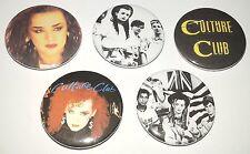 5 Culture Club button Badges 80s Gay Interest romance Boy George karma chameleon