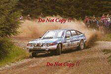 Tony Pond & Rob Arthur ROVER 3500 Vitesse Scottish Rally 1985 Photographie 1