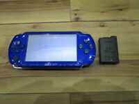 Sony PSP 1000 Console Metallic Blue w/battery Pack Japan o881