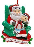 BABY YODA SANTA GIFT PERSONALIZED NAME CUSTOM METAL CHRISTMAS ORNAMENT BAG TAG