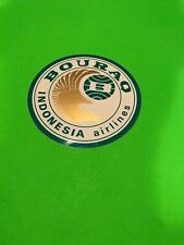Bouraq Indonesia Airlines Sticker Vintage