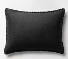 THRESHOLD Washed Waffle Weave Pillow Sham, Set of 2 pieces, Black,  Standard