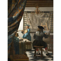 Jan Vermeer The Art Of Painting Large Canvas Art Print