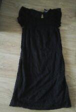 BNWT SIZE 6  BLACK   LACE  SHORT SLEEVE DRESS