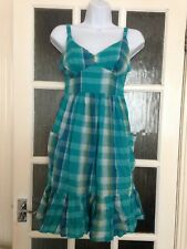Evie Checked Cute Summer Dress Size 8 GC Adjustable Straps