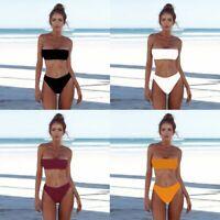 de bain les femmes bikini ensemble soutien - gorge push - up le bustier bandeau