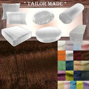 Wn10 Dark Brown Chenille  Sofa Seat Patio Bench Box Cushion Bolster Cover/Runner
