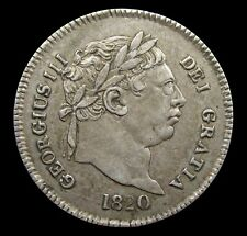 More details for george iii 1820 silver maundy threepence - nef