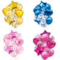 Birthday 14pcs Wedding Balloons Latex Ballons Kids Baby Party Decor Foil