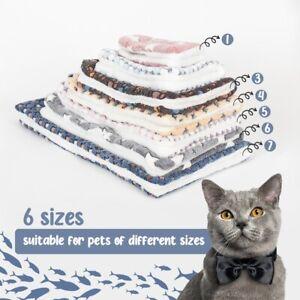 Pet Cat Dog Puppy Blanket Bed Mattress Spring Kennel Fleece Sleep Calming Mat^