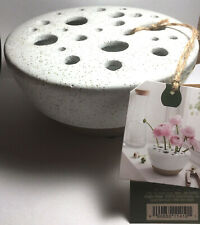 Smith & Hawken Stoneware Ceramic Bud Flower Vase Speckled Glaze New W/Tag Gift