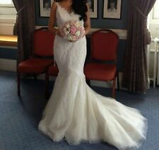 Lace V Neck Unbranded Sleeve Wedding Dresses
