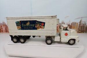 Vintage 1950's Dunwell Snow Crop Refrigerator Semi Tractor Trailer Truck