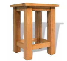 Small Oak Side Table Solid Wood Stand Slim Occasional Coffee Rustic End Lamp