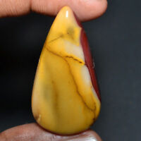 Cts. 53.45 Natural Fabulous Mookaite Jasper Pear Shape Cabochon Loose Gemstones
