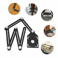 Multi Angle Template Measuring Ruler Aluminum DIY Tile Flooring Position Tool US
