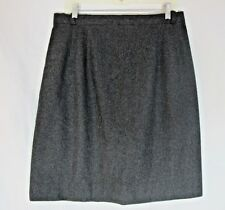 Dark Gray Wool Straight Skirt Handmade Medium