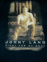 NWOT JONNY LANG FIGHT FOR MY SOUL WORLD TOUR 2013-14-BLACK MEDIUM T-SHIRT-A362