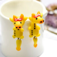 Pretty Cute Bowknot Cow Animal Stud Earrings For Women Soft Clay Jewelry Gifts