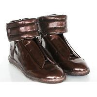 MAISON MARTIN MARGIELA metallic bronze shoes hi-top Future sneakers 40 / 7 NEW