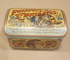 Vintage Purrfect Chocolates J.Crawford & Son Yorkshire England Tin
