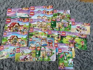 Various Lego Friends Instruction Booklets