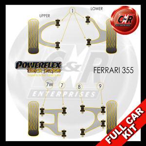 Fits Ferrari 355 (94-99) Powerflex Black Complete Bush Kit