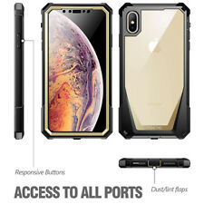 """Poetic Guardian Rugged Clear Hybrid Bumper Gold Case For iPhone Xs Max 6.5"""" 2018"""