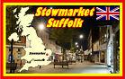 stowmarket,Suffolk - RECUERDO ORIGINAL Imán de NEVERA - MONUMENTOS / Mapa /