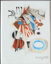 gouache Pierre de Berroeta composition abstraite peinture tableau (n°2)