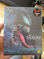 Venom 4K UHD Blu-Ray Steelbook Lenticular Slip Weet Collection #678 New Sealed