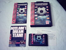 SEGA Genesis 16-BIT Game CHAMPIONS World Class Soccer Complete in Case 1993 MINT