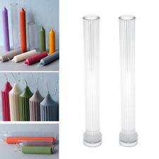 1 Pair Stripe Candle Making Mold Taper Candle Mould Handcraft Wedding Decor