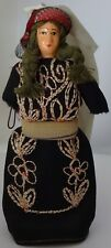 A vintage doll handmade in the attire of Moroccan Jewess 1950s Free shipping.
