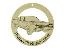Plymouth Roadrunner Natural Maple Hardwood Ornament Sanded Finish Laser Engraved