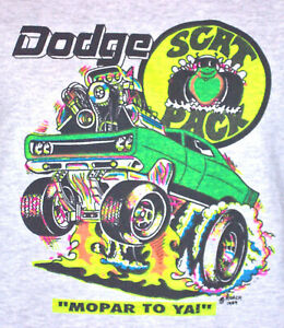 1968 Dodge Scat Pack t-shirt  Vintage  70's  NOS   0152   S,M,L or XL